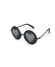 Vision of Love Reflective Heart Sunglasses (HY)