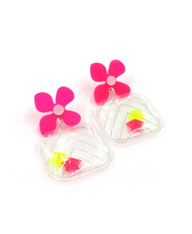 Galaxy Glow Air Pillow Earrings  - Shoot Star Cubes (001)