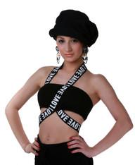 Love Bandage Tube Top (Black)