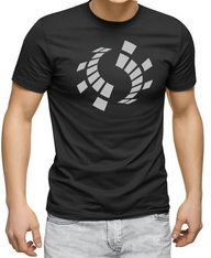 Men's Premium T-Shirt - Antares Sound Records reflective symbol.