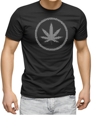 Men's Premium T-Shirt - Hemp Leaf reflective logo.