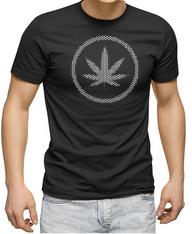 Men's Premium T-Shirt - Hemp Leaf reflective logo.