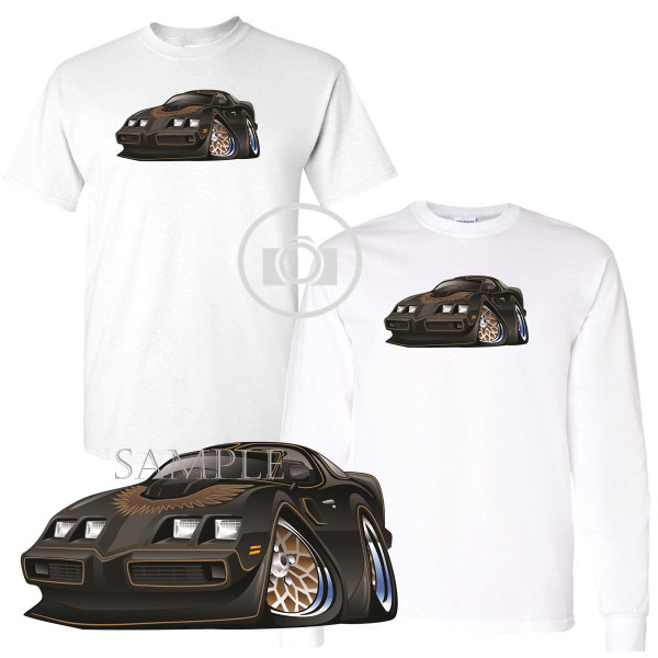 Pontiac Firebird Trans Am Vintage Classic Black & Gold Smokey And The Bandit Graphic Art White T Shirt (S-3X)