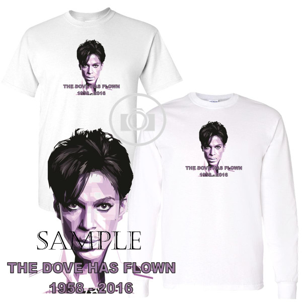 Prince Singer Tribute The Dove Has Flown Graphic Art White T Shirt (S-3X)