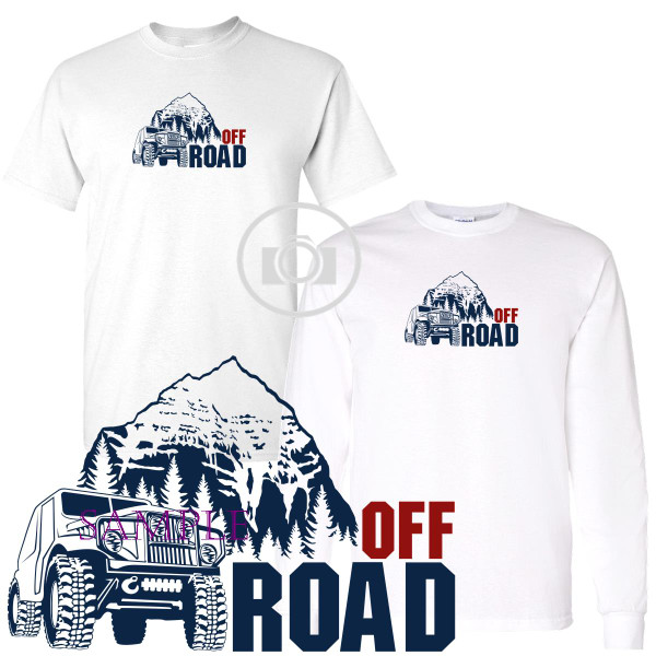 Off Road Wrangler 4X4 Mountain Trails Graphic White T Shirt