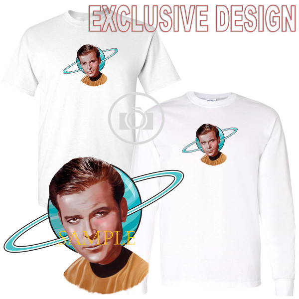 Captain James T. Kirk  Star Trek Enterprise Caricature Graphic Art T Shirt (S-3X)