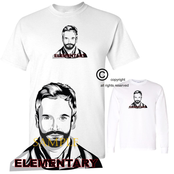 Elementary Jonny Lee Miller TV Sherlock Holmes  Graphic Art T Shirt (S-3X)
