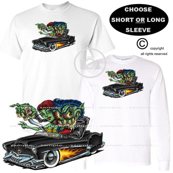 Rebel Monster Freak With Date Hot Rod Fink Style Friend Exclusive Graphic Art T Shirt (S-3X)