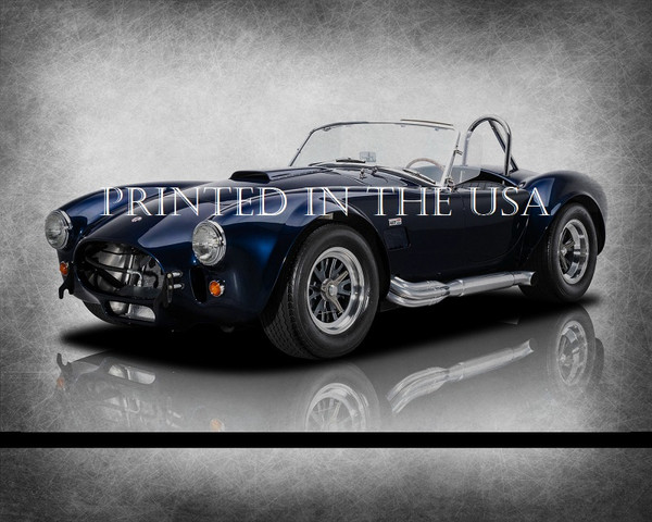 "(ACC) AC Shelby Cobra 1965 Blue 427 CSX6000 Model Classic Car Graphic Art Print 16""X20"" Glossy Poster... Ready To Hang"