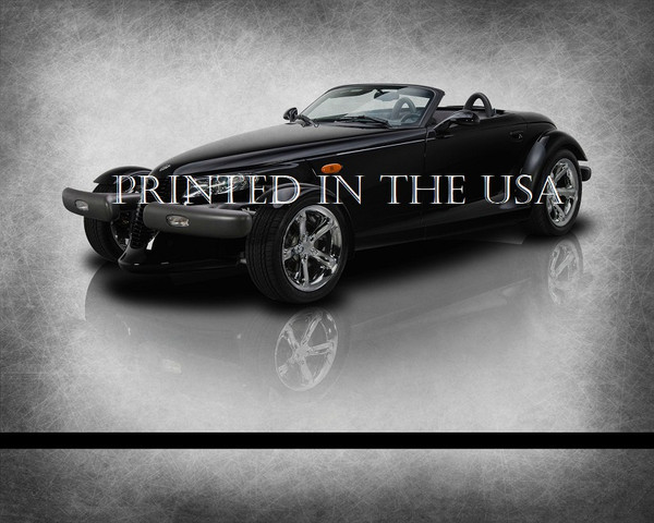 """Chrysler Plymouth Prowler Black 1999 Model Classic Car Graphic Art Print 16""""X20"""" Glossy Poster... Ready To Hang"""
