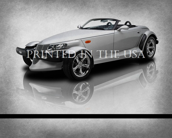 """Chrysler Plymouth Prowler Silver 2000 Model Classic Car Graphic Art Print 16""""X20"""" Glossy Poster... Ready To Hang"""