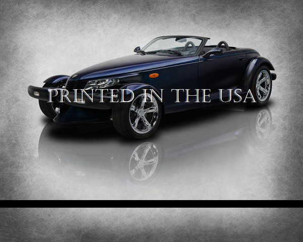 """Chrysler Plymouth Prowler Blue Mulholland 2001 Model Classic Car Graphic Art Print 16""""X20"""" Glossy Poster... Ready To Hang"""
