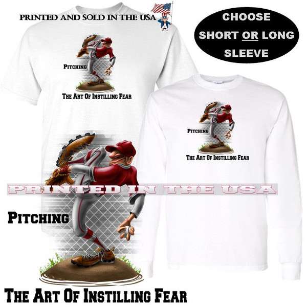 Baseball Pitcher Pitching The Art Of Instilling Fear Graphic T Shirt