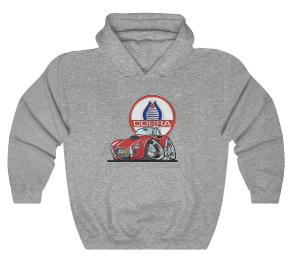(ACC) AC Shelby Cobra Rare Vintage Red Koolart Car Cartoon Art Graphic Hoodie Sweatshirt