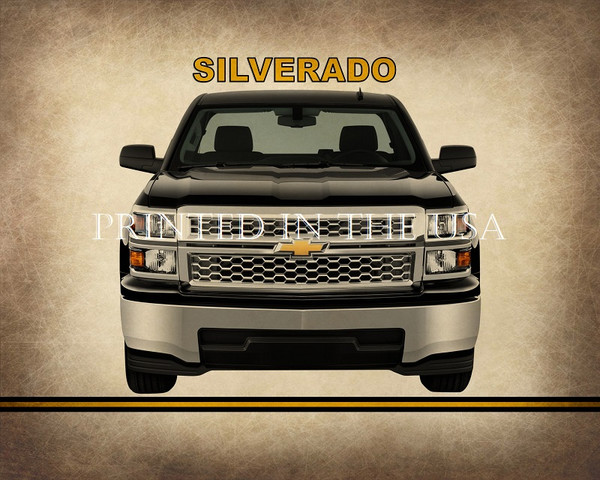 "(CHE) Silverado Classic 4X4 Truck Model 2014 Car Graphic Art Print 16""X20"" Glossy Poster... Ready To Hang"