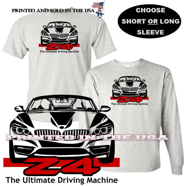 (BMW)  BMW Z4 Convertible The Ultimate Driving Machine DigiRods Car Gray T Shirt