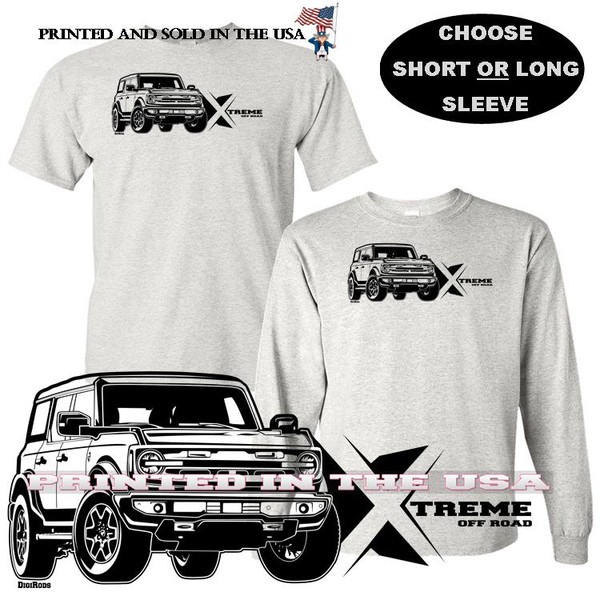 (FOR) Ford Bronco 2021 New 4x4 Xtreme Off Road DigiRods Car Gray T Shirt