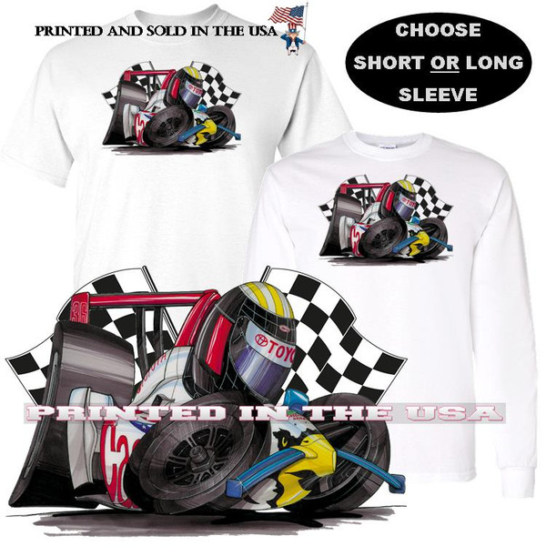 (TOY) Toyota Indy Speedway Eagle Race Track Car DigiRods / Koolart Cartoon Car Graphic T Shirt