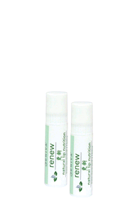 Eniva Renew Lip Nutrition, .15 oz, 2 pack, moisturizes lips, soothing plant nutrients, exotic oils, healthy t-Resveratrol, L-lysine, Green Tea and Vitamin E, smooth away cracks, refresh with essential oils,* Almond Oil, Sunflower Oil, Avocado Oil, Safflower Oil, Spearmint Oil, Safety Promise, No Parabens, No Phthalates, No MEA, TEA or DEA, No Glycols or Aluminum, No SLS or other sulfates, No Dyes or Artificial Fragrances, Product ID # 5224