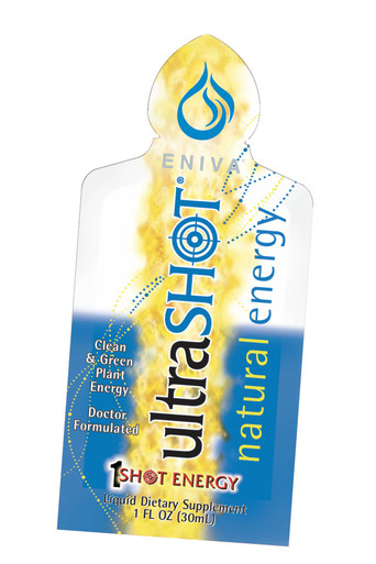 Eniva UltraSHOT, 1 oz packet, advanced natural energy supplements, ultra-potent and ultra-pure healthy nutrients, increase stamina, antioxidant equivalent of 2 servings of fresh fruits and vegetables, based on ORAC antioxidant score, counteract damaging free radicals, mental clarity and well-being, energy and stamina, health of cellular DNA, 11 fruits and 2 vegetables, vitamins and minerals, invigorate energy production , enhance sexual function with exotic herbals, fuel stamina with the building blocks of protein,* Product ID # 29000