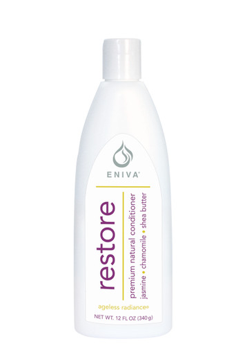 Eniva Restore Premium Natural Conditioner, 12 oz, restores hair's brilliance, premium natural conditioner, boost volume, restore moisture, exotic oils and extracts, nourish hair and scalp, silky, shiny, soft hair,* Natural Botanicals and Vitamins, Jasmine Flower, Green Tea Leaf, Agave Extract, Chamomile, Pro-Vitamin B5, Keratin Amino Acids, Shea Butter, Olive Oil, Ylang Ylang Flower Oil, Product ID # 55010