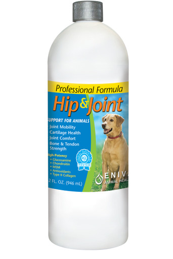 Eniva Animal Hip & Joint Support, 32 oz, joint and bone supplements for dogs and cats, Manganese, Boron, Calcium and Magnesium for Healthy bone formation and joint flexibility, Product ID # 27003