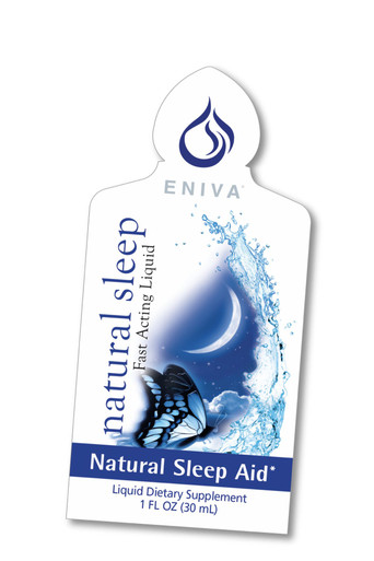 Eniva Natural Sleep Packets, 1 box of 20 packets, concentrated liquid nutrients, antioxidants, minerals, vitamins, natural nutrients support the entire sleep cycle, non-addictive, non-habit forming sleep supplement, Melatonin, L-theanine, Valerian Extract,  Chamomile Flower Extract, Passion Flower Extract. Lemon Balm Extract,* Product ID # 15012