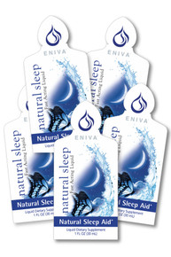 Eniva Natural Sleep Packets, 1 Box of 5 packets, concentrated liquid nutrients, antioxidants, minerals, vitamins, natural nutrients support the entire sleep cycle, non-addictive, non-habit forming sleep supplement, Melatonin, L-theanine, Valerian Extract,  Chamomile Flower Extract, Passion Flower Extract. Lemon Balm Extract,* Product ID # 29505Five