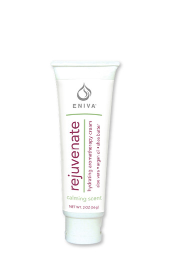 "Eniva Rejuvenate Natural Therapy Cream, is an anti-aging skin cream in 2 oz, penetrating exotic oils, nutrient-rich botanicals, promote strength, tone and elasticity, silky and smooth skin, Specialized ""youth code"" ingredients support skin health, moisture therapy, powerful antioxidants* Jojoba Oil, Avocado Oil, Moroccan Argan Oil, Tea Tree Oil, Bergamot Oil, Shea Butter, trans-Resveratrol, Green Tea, Vitamin E, Safety Promise, No Parabens, No Phthalates, No MEA, TEA or DEA, No Glycols or Aluminum, No SLS or other sulfates, No Dyes or Artificial Fragrances, Product ID # 530123"