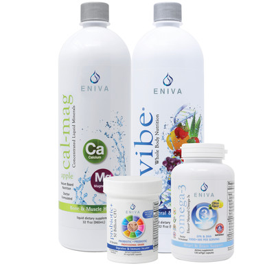 Women's Health Pack, Includes: VIBE (32 oz), Cal-Mag (32 oz), Omega-3s Fish Oil (120 caps), Probiotic+ (30caps), ID 32039
