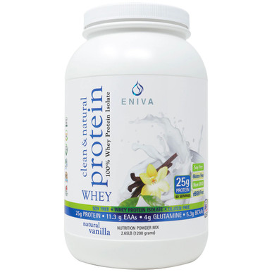 clean :& natural 100%whey protein supplement - 40 serving jar (1 case of 12 jars)