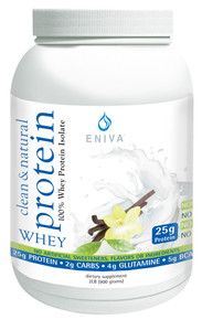 clean :& natural 100%whey protein isolate supplement - 40 serving jar (5 cases of 12 jars = 60 jars)