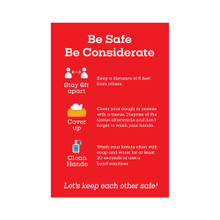 Wall Clings (Pack of 4) – Be Safe. Be Considerate. Cling