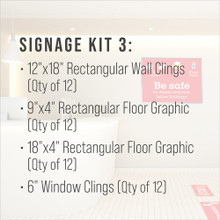 Signage Kit 3 - includes 12 of each item.