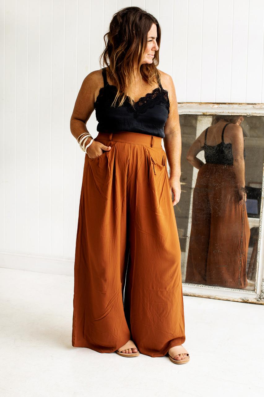 58aa2ccac Signature Pants - Rust - Kara Rosenlund