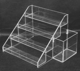 Nail Polish Clear Acrylic Counter Display Rack With Extra Side Box (Fits Up to 24 Bottles + Extra Side Box)