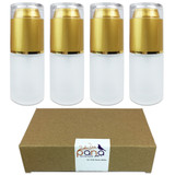 30ML Empty Frosted Glass Spray Bottle with Gold Cap