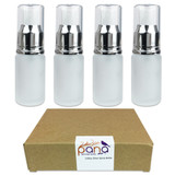 20ML Empty Silver Frosted Glass Spray Bottle with Clear Cap