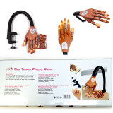 PANA BRAND NAILTRAINER TRAINING PRACTICE FLEXIBLE FINGER HAND + 100 pcs REIFT REFILL Tips