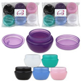10G/10ML Plastic Round Mixed Frosted Cosmetic Sample Jars with Inner Liner and Lids