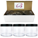 300G/300ML 10 Oz High Quality Plastic Cosmetic Sample Jars with Black Lids