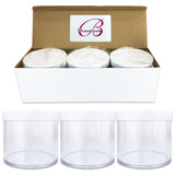 300G/300ML 10 Oz High Quality Plastic Cosmetic Sample Jars with White Lids