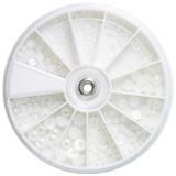 White Pearl Nail Art Deco Wheel