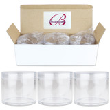 300G/300ML 10 Oz High Quality Plastic Cosmetic Sample Jars with Clear Lids