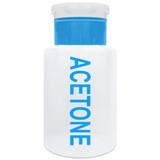 6 Oz. Blue Acetone Labeled Push Down Pump Dispenser