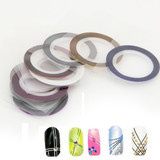 Nail Art Glitter Sticker Strip Tape (Assorted 10 Color Set)