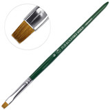 Fuji Kolinsky Sable (Short, Flat Shaped) Brush with Green Handle Size 6