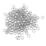 Stainless Steel Open Jump Ring Connector - Silver Tone - 100pcs