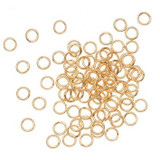 Gold Plated Open Jump Ring Connector - 100pcs