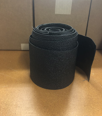 "(1) 5""X30' Roll Pebble Grain Textured rubber/Black.  This product can be used with or without adhesive and is ideal for Indoor/Outdoor, RV, Marine and Automotive use."